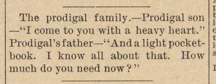 "The prodigal family. - Prodigal son - ""I... image"