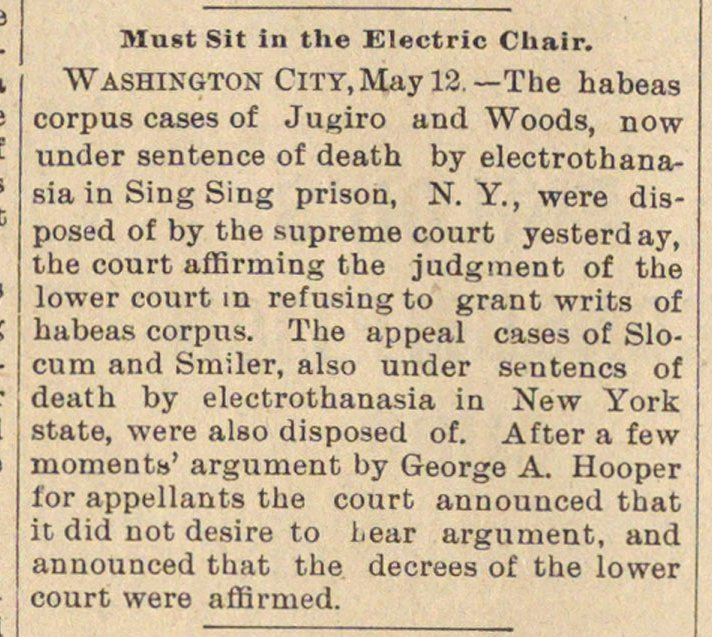 Must Sit In The Electric Chair image
