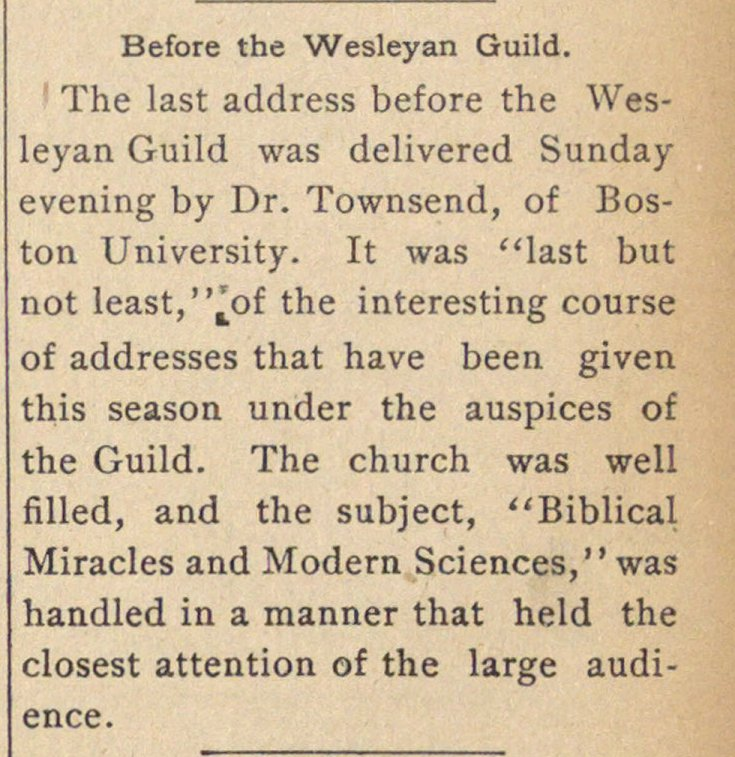 Before The Wesleyan Guild image