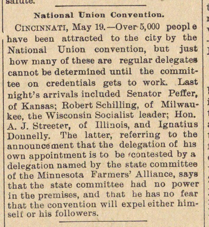 National Union Convention image