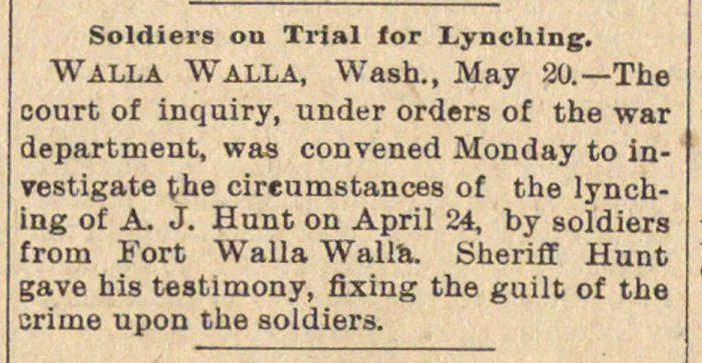 Soldiers On Trial For Lynching image