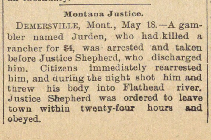 Montana Justice image