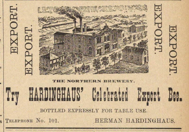 Try Hardinghaus' Celebrated Export Bee. image