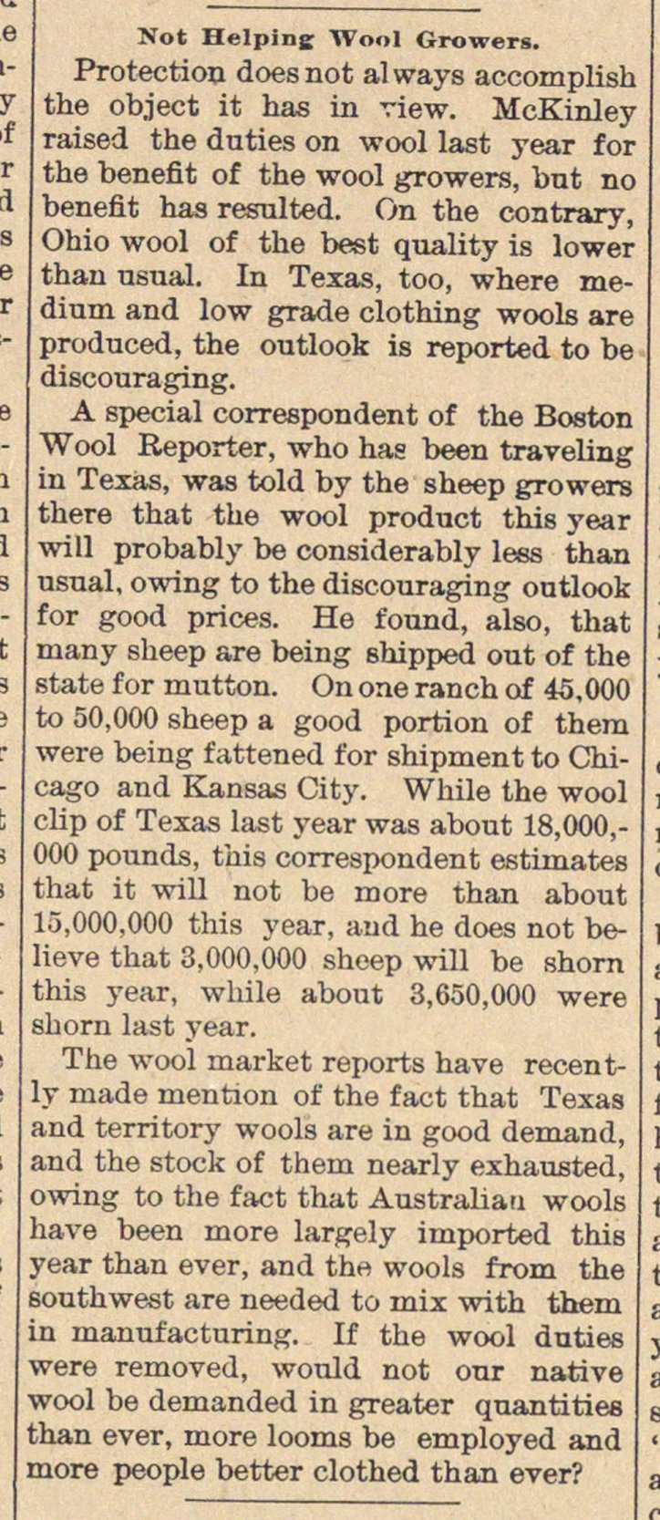 Not Helping Wool Growers image