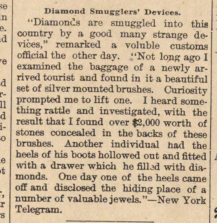 Diamond Smugglers' Devices image