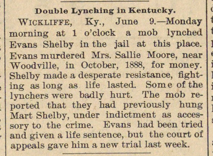 Double Lynching In Kentucky image