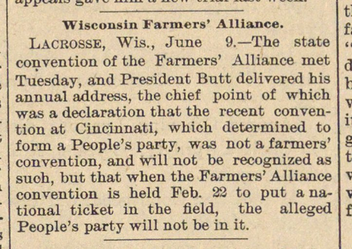 Wisconsin Farmers' Alliance image