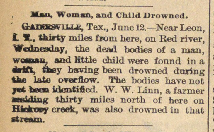Man, Woman, And Child Drowned image