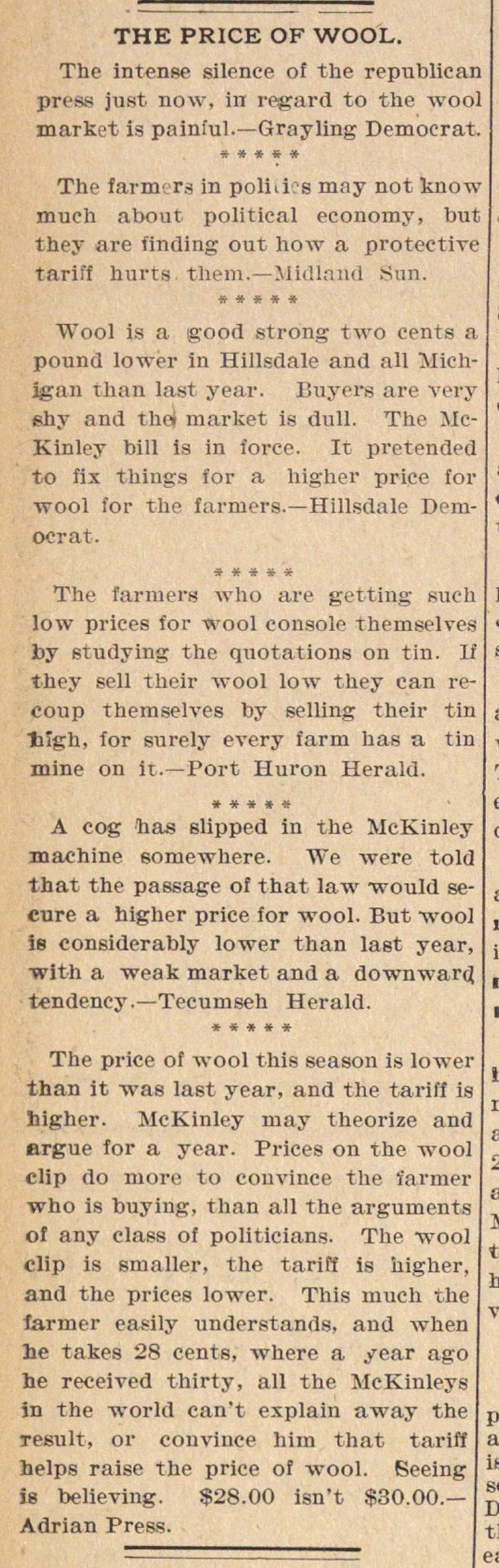 The Price Of Wool image