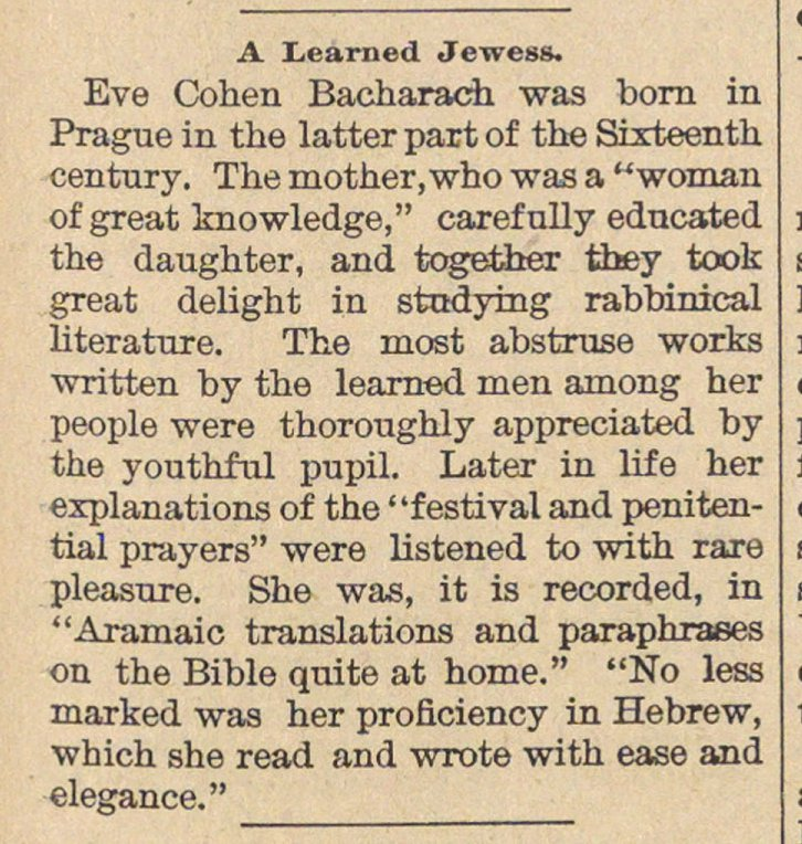 A Learned Jewess image