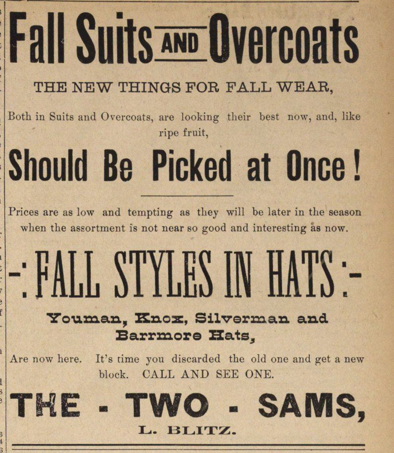 Fall Suits And Overcoats image
