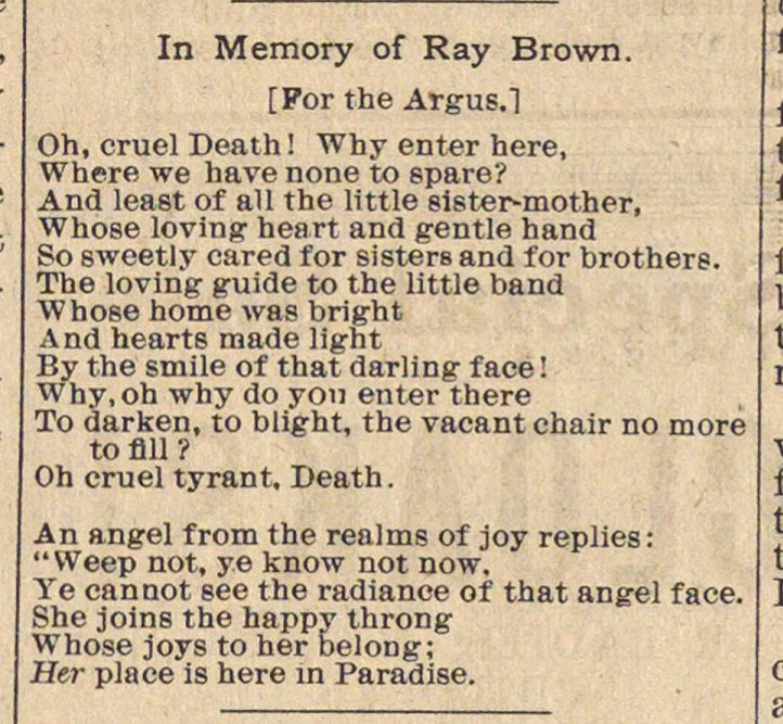 In Memory Of Ray Brown image