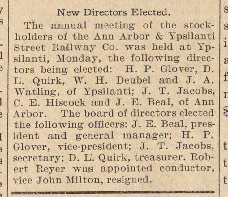 New Directors Elected image