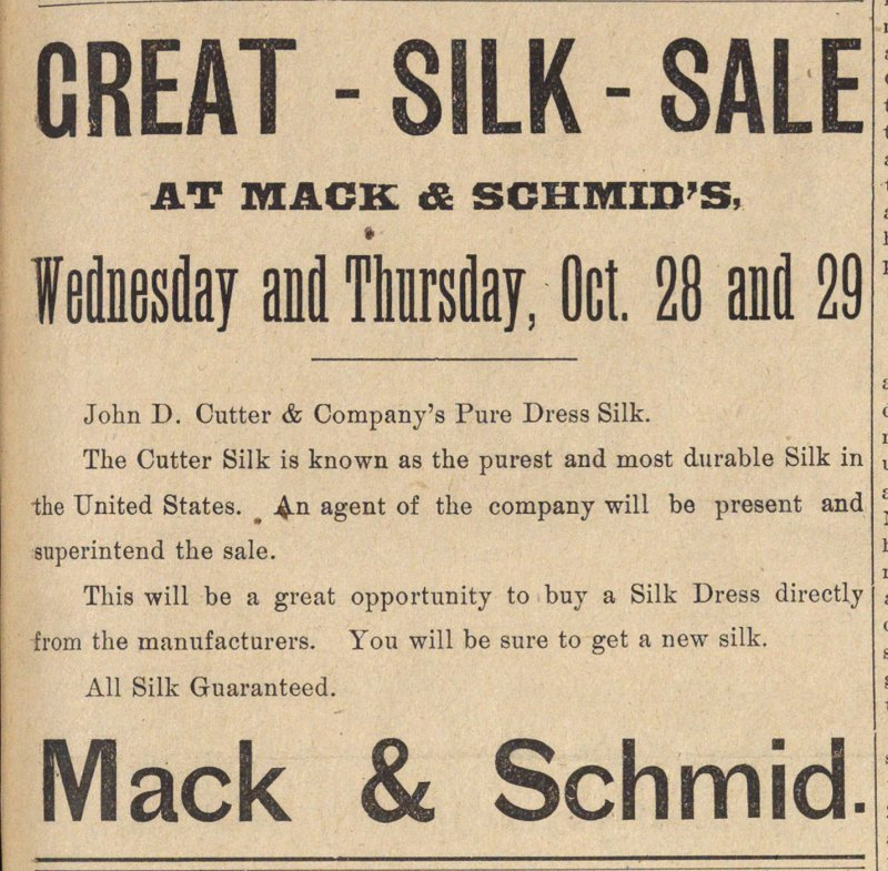 Great Silk Sale image
