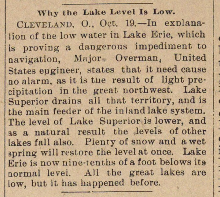 Why The Lake Level Is Low image
