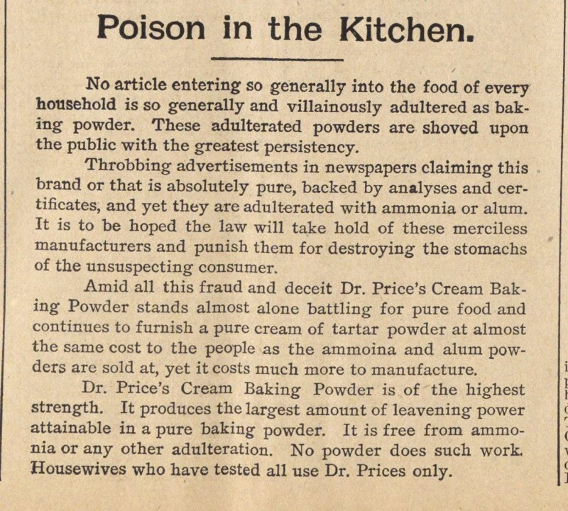 Poison In The Kitchen image