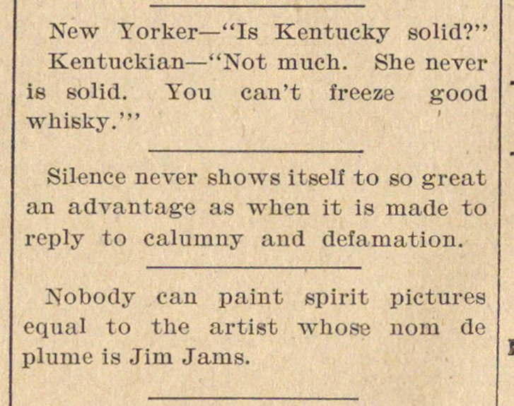 "New Yorker- ""Is Kentucky solid?"" Kentuck... image"