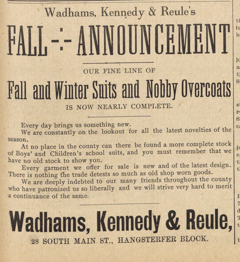 Fall And Winter Suits And Nobby Overcoats image