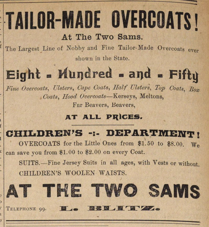 Tailor-made Overcoats! image