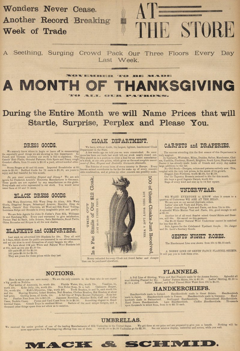 A Month Of Thanks Giving    M Thanksgiving image