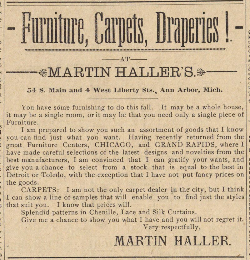 Furniture, Carpets, Draperies! image