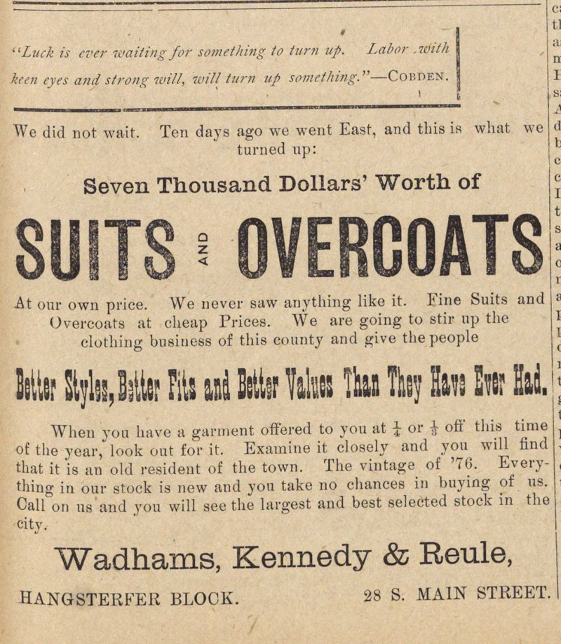 Suits And Overcoats image
