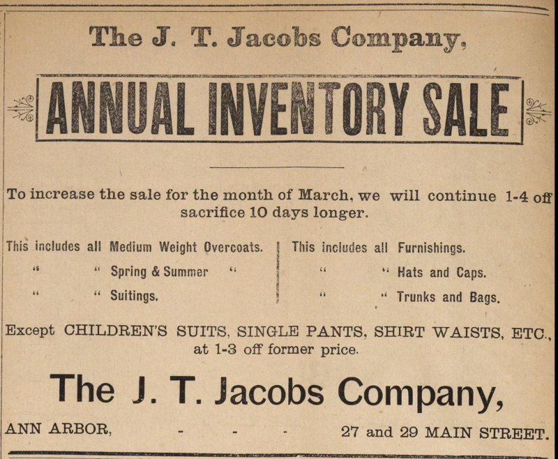 Annual Inventory Sale image