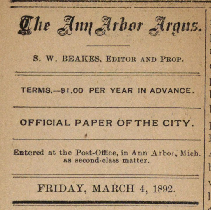 The Ann Arbor Argus image