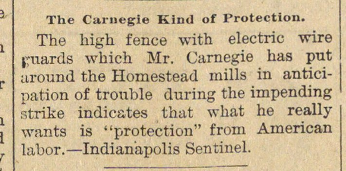 The Carnegie Kind Of Protection image