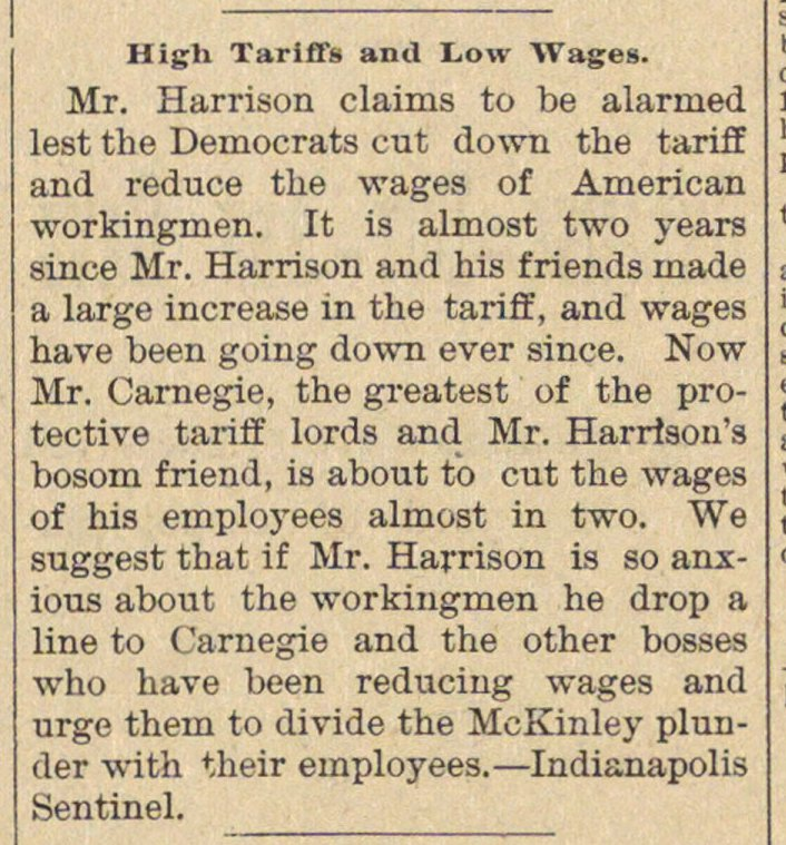 High Tariffs And Low Wages image