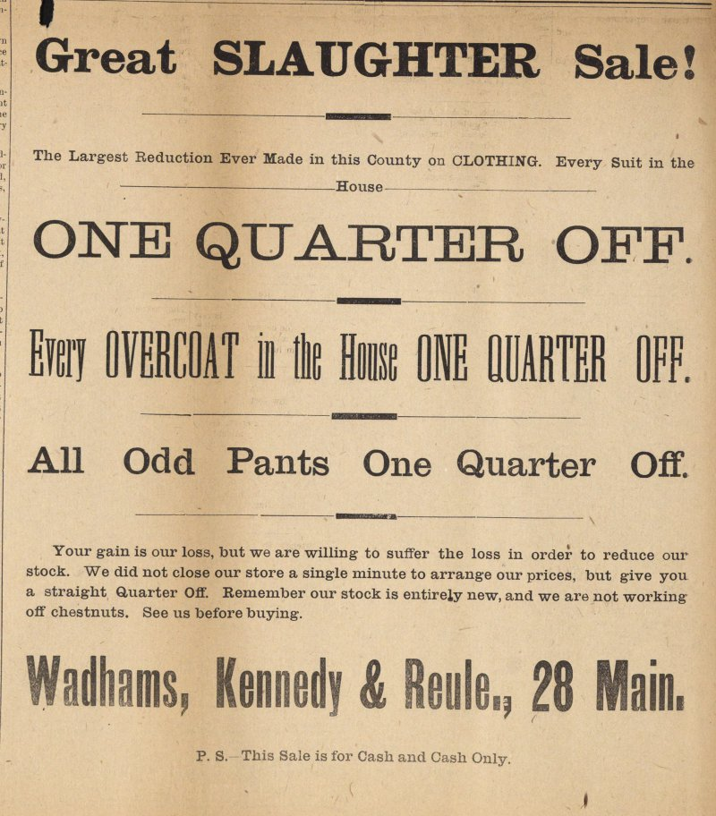 Great Slaughter Sale! image
