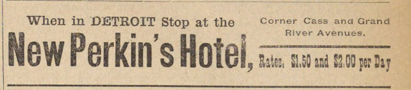 Classified Ad: New Perkin's Hotel image
