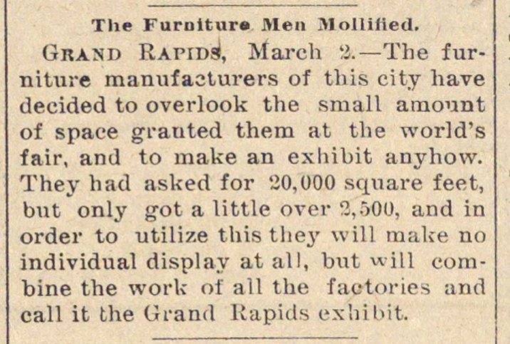 The Furniture Men Mollified image