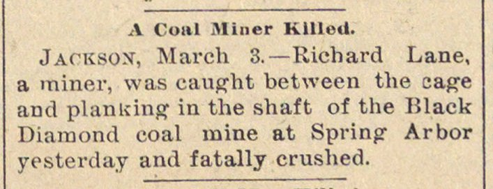 A Coal Miner Killed image