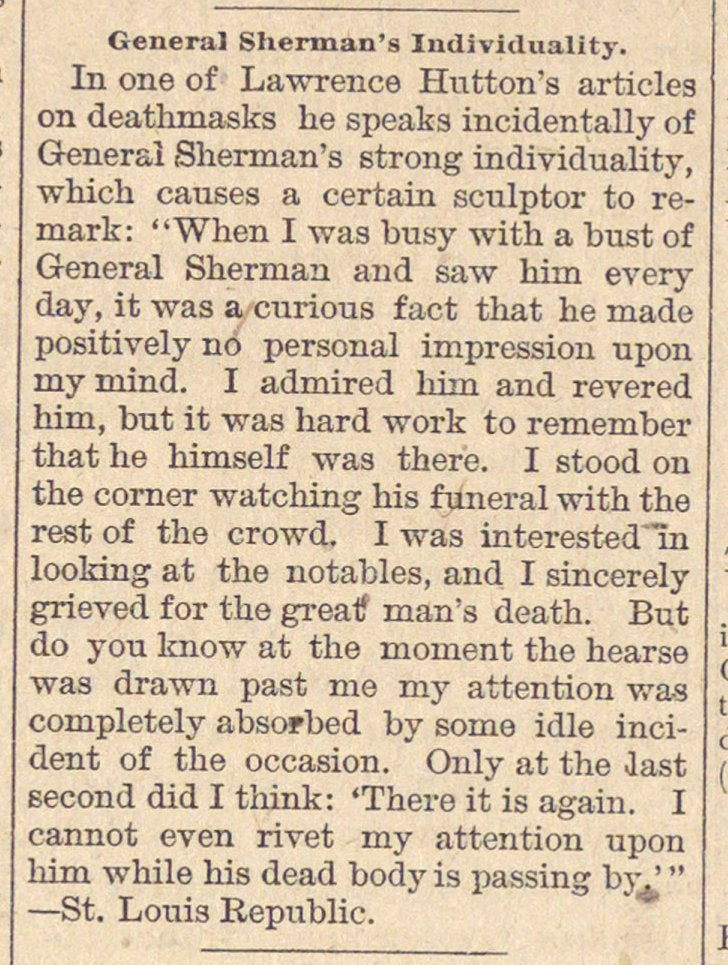 General Sherman's Individuality image