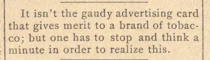 It isn't the gaudy advertising card that... image