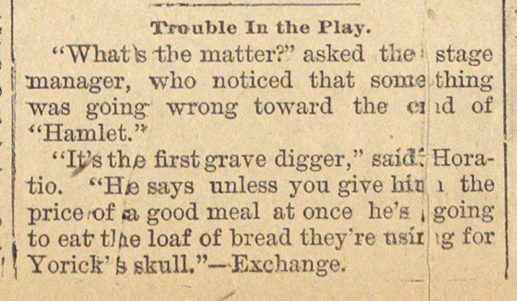 Trouble In The Play image