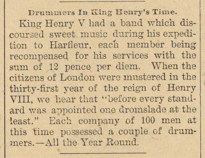 Drummers In King Henry's Time image