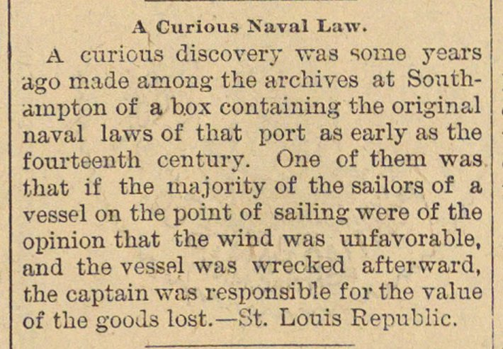 A Curious Naval Law image