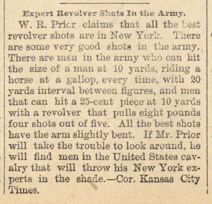 Expert Revolver Shots In The Army image