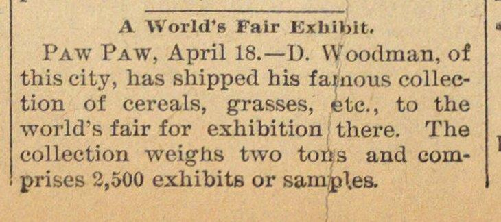 A World's Fair Exhibit image