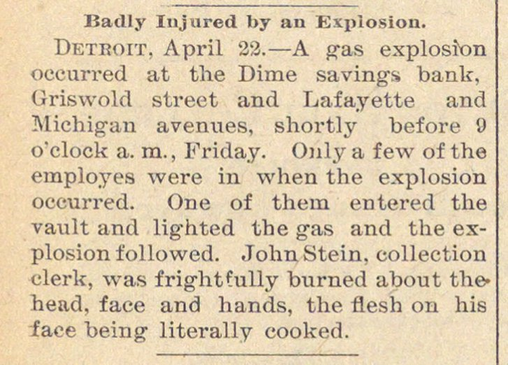 Badly Injured By An Explosion image