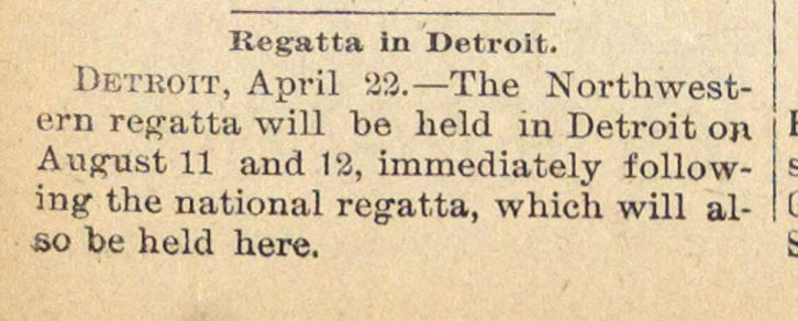 Regatta In Detroit image