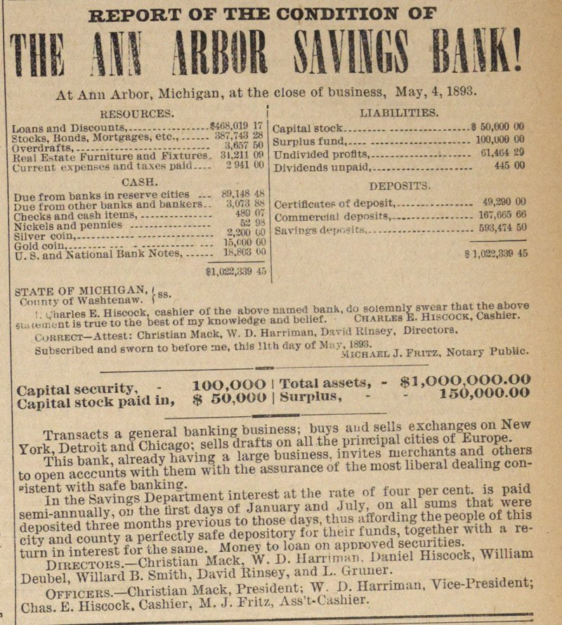 The Ann Arbor Savings Bank!  T S image