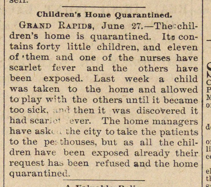 Children's Home Quarantined image