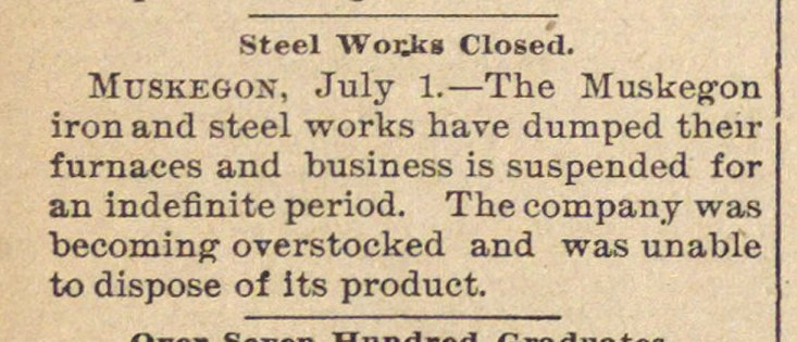 Steel Works Closed image