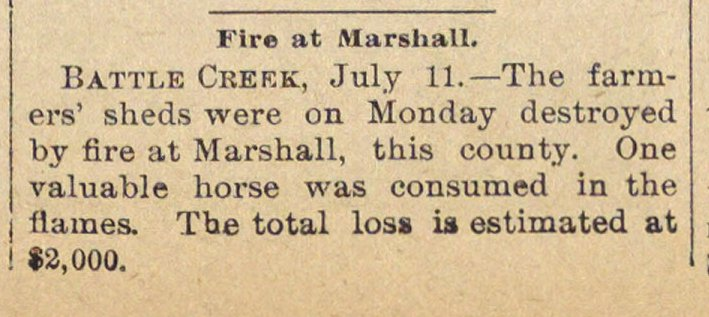 Fire At Marshall image