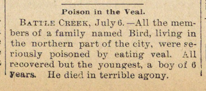 Poison In The Veal image