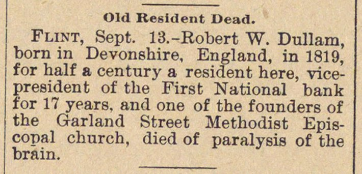 Old Resident Dead image