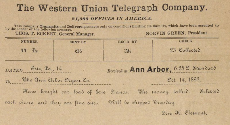 The Western Union Telegraph Company image